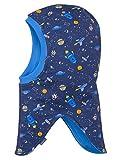 maximo Baby-Jungen Mütze 83500-020500, Schlupfmütze Weltall, Blau (Navy-Bluettte 83), 47