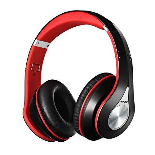 Stereo Bluetooth 4.0 Mpow Riduzione del Rumore Interno, Elastici di Fascia Pieghevole Design Ergonomico, con Microfono, Durata di 13 Ore per Huawei P9 / P8, iPhone 6s plus/6s, iPhone 6/6 Plus, iPhone 7/7 Plus, iPhone 5s/5c/5/5SE, iPad, LG G2, Samsung Galaxy S6 Edge+/S6 Edge/S6/ S5/S4/S3, Note 4/Note 3/Note 2, Sony, Huawei P9 ed altri Smartphone e PC, Rosso
