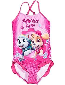 La Pat' Patrouille Mädchen Badeanzug rosa Rose