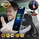 Caricatore Wireless Auto, Caricabatteria Wireless per Auto Culla Supporto Caricabatteria Wireless per Auto con Supporto Telefono Universal Qi Wireless Charger, Compatibile con Qi-Enable Phones