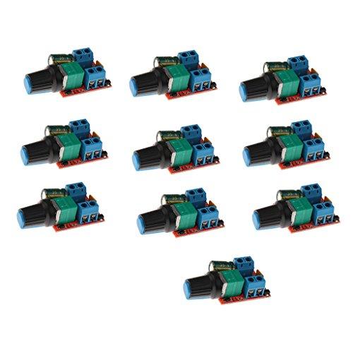 FITYLE 10x DC 3-35 V 5A Motor Drehzahlsteller Regler Kontroller 90W PWM (Miniatur-dc-motor)