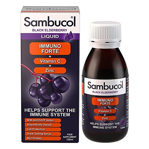 Sambucol Immuno Forte, Vitamin C e Zinc - 1 Flacone da 120 ml