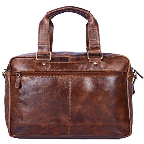c6a6f9a6aa ... STILORD 'Jon' Borsa lavoro uomo in vera pelle vintage Grande borsa a tracolla  Cartella