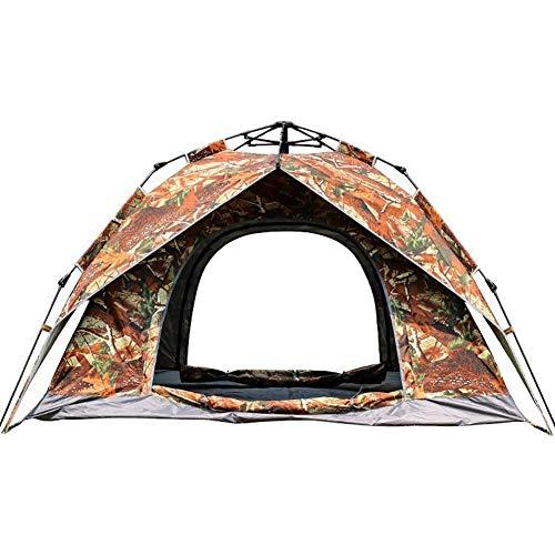 Adenlbahr Kuppelzelt wasserdicht, Campingzelt mit Vorraum, Automatik Iglu-Zelt für 3 Personen (Doppelschicht) - 200 * 230 * 140cm