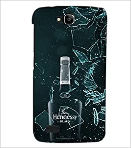PrintDhaba Bottle D-4338 Back Case Cover for HUAWEI HONOR HOLLY (Multi-Coloured)