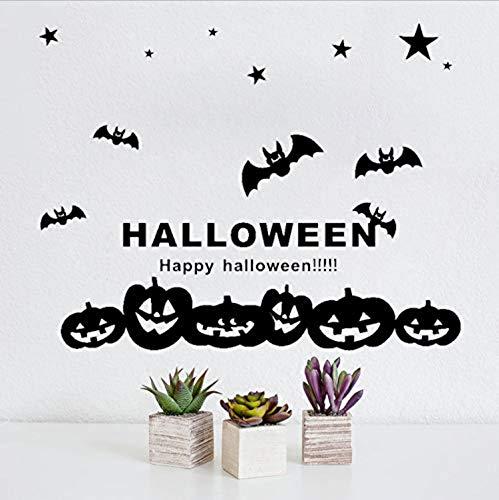 Adesivo murale art halloween zucche pipistrelli fai da te adesivo da parete in pvc decalcomanie bambini casa per bambini camere decorazione della parete