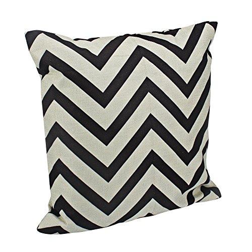 Aikesi Kissenbezüge Exquisit Einfache gewellt Streifen Wellenschliff Form Baumwolle Sofa Kissenbezug Kissenbezüge 50 * 50 cm -