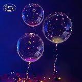 Makerfire 3 Stück LED Ballons, Transparent Party Ballons, Einzigartig Party Ballons, Perfekt für Verschiedene Festivals, Party, Jahrestag Feierlichkeiten, Hochzeit, Urlaub Dekoration