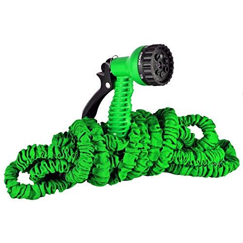 Bayli 7,5M Flexibler Wasserschlauch Gartenschlauch Flexischlauch mit Handbrause Wonder Magic Hose Gartenteichschlauch Farbe Grün