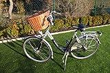 Marcus-Hundefahrradkorb für Fahradlenker aus Weide mit Metallgitter und Kissen...