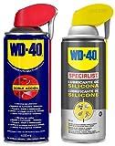 WD-40 - Lote Lubricante WD40 Doble Accion 400ml + Specialist Lubricante de silicona 400ml - Pack 2 unidades