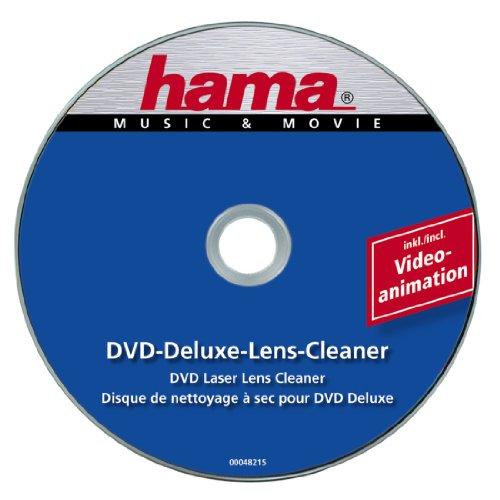 Hama DVD Reinigungsdisc Deluxe (Zur Beseitigung von Schmutz in DVD Laufwerken, Inkl. Videoprogramm, Laser-Reinigungs DVD) -