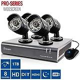 Swann dvr8–4400Enregistreur vidéo numérique 8canaux + 4x Caméras pro-a850