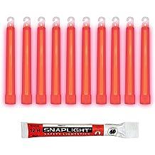 Cyalume 9R-3N8P-F55Q - Barras de luz rojo SnapLight Glow Sticks 15 cm, 6 Inch Lightstick super brillante con duración de 12 horas (Caja de 10)