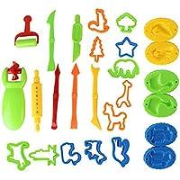 TrifyCore Kit de Herramientas de Arcilla y Masa: Incluye Jeringas de Extrusión, Herramienta de Fabricación de Moldes de Plastilina y Modelos de Cuchillas de Cilindro Ancho, de 3 y más años