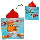 Unbekannt Badeponcho - Disney Planes / Dusty - 50 cm * 115 cm - 4 bis 8 Jahre Poncho - mit Kapuze - Handtuch Strandtuch Baumwolle - Jungen - Flugzeuge / Jungen - EL Chu..
