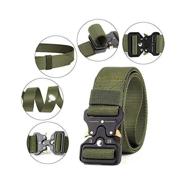 AivaToba Cintura Tattica Uomo Heavy Duty Nylon Cintura Cobra Militare Esercito con Fibbia in Metallo a Sgancio Rapido… 4 spesavip