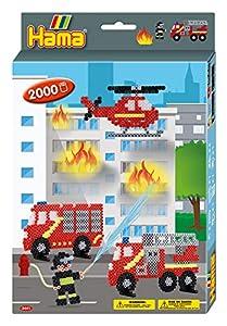 Hama 10.3441 Firefighters - Juego de Cuentas de Mosaico para Colgar, tamaño único