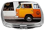 Rikki Knight Compact Mirror, Vintage Orange Volkswagen Beetle Van