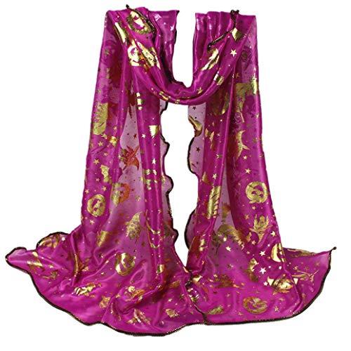 Heißer TIFY Damen Halloween Schal Fashion Party Kürbis Schal Outwear Kostüm Fee Pixie Vertuschen Schal Zubehör 150 * 43 cm