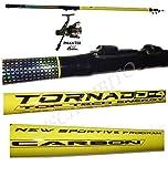 Pescasubito.com kit canna tornado 3 metri + mulinello da pesca bolognese galleggiante mare lago