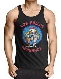 style3 Los Pollos Herren Tank Top white walter meth
