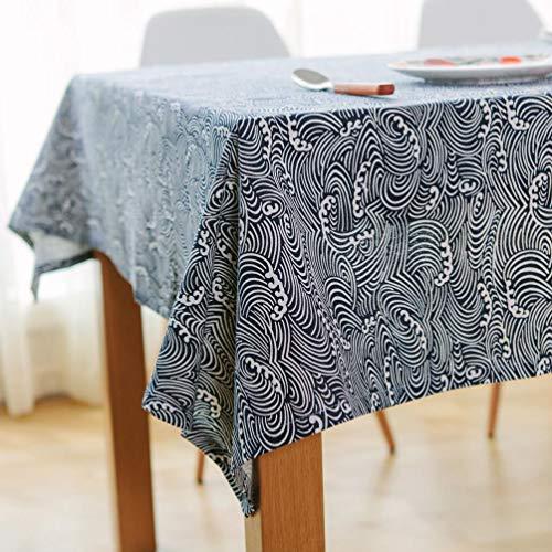 ZHJIUXING HO Rechteck-Tischdecke, Antifouling längliche Tischdecke vertikale Muster Bunte wischen sauber Küche Esstisch Abdeckung und Picknick, 140x220cm
