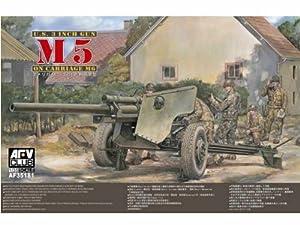 Unbekannt AFV Club 35181 M5 3inch Howitzer w/ M6 Carriage 1:35 Plastic Kit