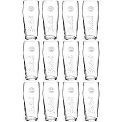 GROLSCH vasos de pinta de cerveza Lager 6/12x 570ml/19.3oz CE marcado gran cartucho de altura 18cm oval Base vaso de cristal, grabado de cristal cerveza Ale amargo & suave bebidas se puede lavar en lavavajillas. Casa Pub o uso comercial, vidrio, 12 Pack Pint Glasses