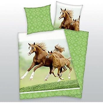 Herding 4424 07 064 Bettwäsche Pferde Motiv, Linon
