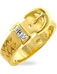 ISADY - Adele Gold - Women's Ring - Cubic Zirconia - Buckle