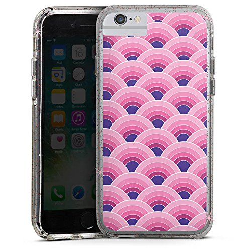Apple iPhone 8 Bumper Hülle Bumper Case Glitzer Hülle Regenbogen Rainbow Pink Bumper Case Glitzer rose gold