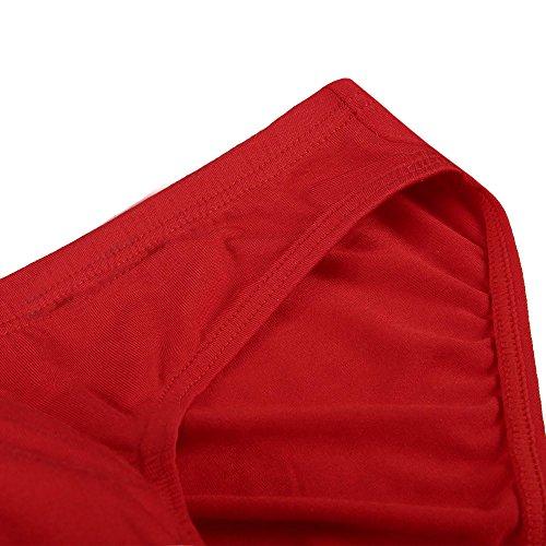 Keland Herren Basic Slips (4 Stück) sportliche Slips Minislips aus Modal in schönen Farben Top-Markenqualität Rot
