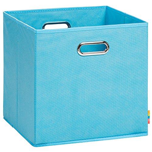 (H&S) Aufbewahrungsbox LEA - Faltbox - Korb - 33x33x33 cm - (Türkis)