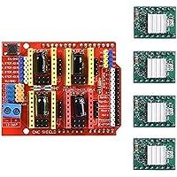 Kingprint CNC Shield di espansione V3.0per Arduino con 4pcs A4988stepper con dissipatore di calore per Arduino