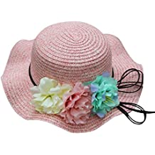 Sombrero Respirable De La Flor del Bebé del Verano AIMEE7 Sombrero del Sol  De La Paja 89610a43667
