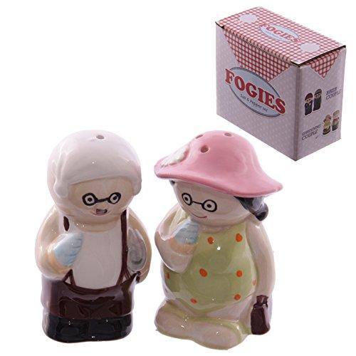 Salz- und Pfefferstreuer Oma und Opa am Strand