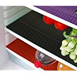 E-Retailer Plastic Fridge Mat Refrigerator Drawer Mat/Fridge Mat/Place Mat Set Of 3 Pcs (13*19 Inches) Multi Purpose Use (Multi, Free)