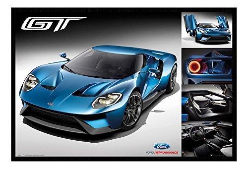 ford-gt-2016-supercar-affiche-magnetique-tableau-daffichage-noire-encadre-965-x-66-cms-approx-38-x-2