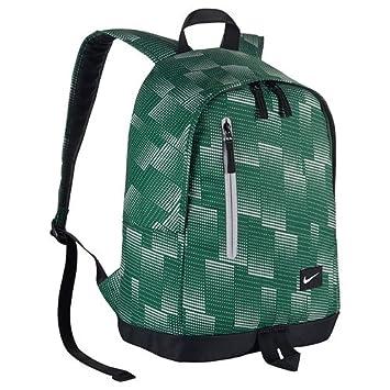 black and green nike backpack