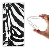 Elephone S2 Hülle, WoowCase Handyhülle Silikon für [ Elephone S2 ] Tier Zebradruck Handytasche Handy Cover Case Schutzhülle Flexible TPU - Transparent