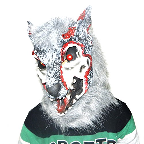 Halloween Maske, HimanJie Werwolf Maske halloween Latex Mask Halloween Mask Toys Decoration (Maske Horse Black)