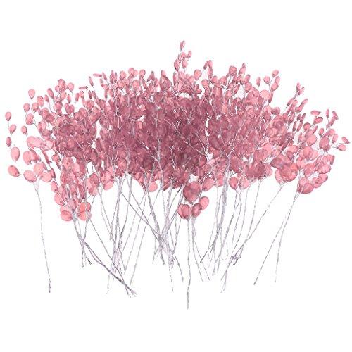 non-brand Sharplace 15cm Acryl Kunstblumen Kunstzweige Künstliche Blumen Strauß Dekozweige Ornament - Rosa Rosa Strauß