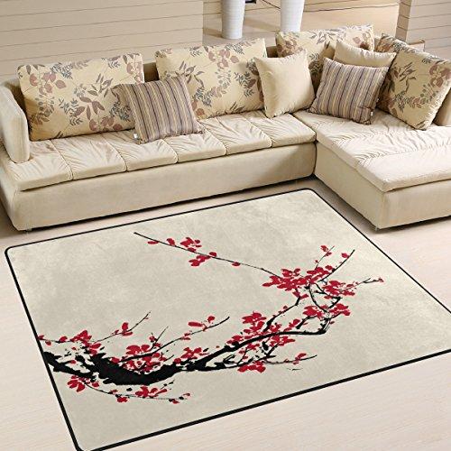 8a2ba27cdf Naanle Japan Japanese Vintage Style Non Slip Area Rug for Living Dinning  Room Bedroom Kitchen,