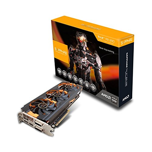 Sapphire Radeon R9 290 Tri-X Grafikkarte (PCI-e, 4GB, HDMI, 2x DVI-D, DisplayPort, 1 GPU) (Grafikkarte Amd R9)