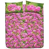 Juego de Sábanas Bassetti Mod. Orchidea cama 150-160 (sábana encimera+2 almohadones)