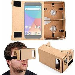 DURAGADGET Gafas de Realidad Virtual VR para Smarphones Smartphone Xiaomi Mi A1