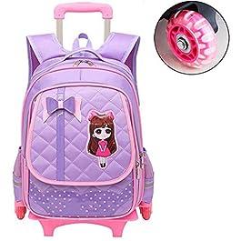 d5c5c2b823 C-Xka Zaino girevole impermeabile per bambini Bowknot con ruote Zaino  decompressione per zaino principessa