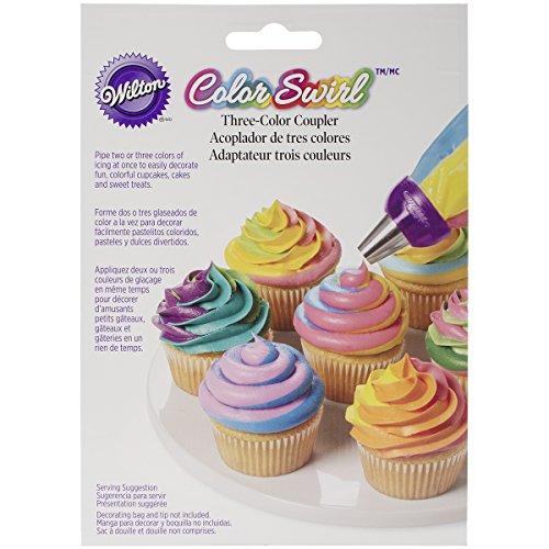 Wilton Colour Swirl 3 Farben-Spritzbeutel-Kupplung Wilton Ring-form