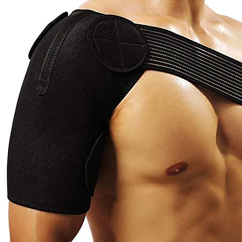 TZTED Verstellbare Schulterstütze Lightweight Gym Sport für AC-Gelenke, Sehnenentzündungen, Sportverletzungen Schulter Schmerzlinderung, Linke oder Rechte Schulter, Männer und Frauen,S -